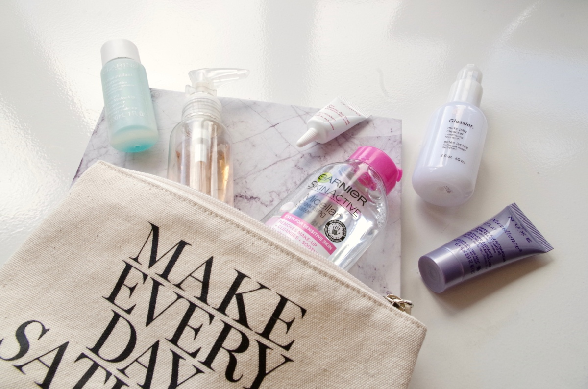 What's in my travel skincare bag - then v now